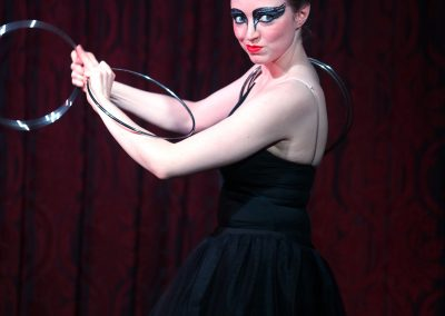 Megan Swann performs a ballet magic act with rings