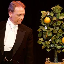 Scott Penrose with the magic orange tree